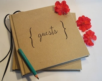 Wedding Guest Book · Unique Wedding Guest Book · Kraft Cover Paper · Trending Guest Book · Sign In Book · Gift for Bride & Groom