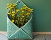 porcelain envelope wall vase