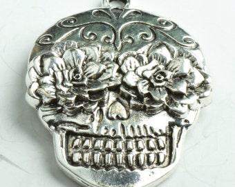 Sugar Skull Pendant set, 2 each, MADE IN USA,