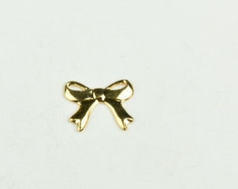 Bow Charm, silver antique finish, sold in packages of 6 15125