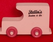 Girl's Pink Wooden Company Truck, Pink Wooden Toy Car for Toddlers, Kids, Children,  Pink Toy Truck