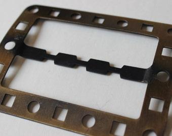 Vintage Rectangular Belt Buckle Make Your Own Belt Rectangular 1970's
