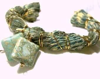 Fabric Bracelet Cuff, Bohemian Tribal Hippie Jewelry, Top Selling Jewelry, Best Selling Bracelet Textile Cuff Gemstone Bracelet, Jasper Cuff