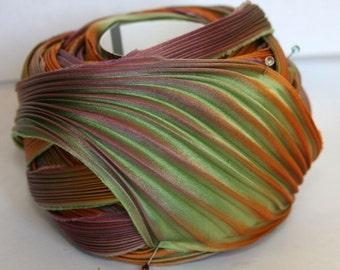 1 yd Shibori Ribbon Hand Dyed Silk Ribbon Yosemite