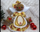 Primitive Raggedy NEW Gingerbread Angel Tree Topper~CHRISTMAS IN July 2015!