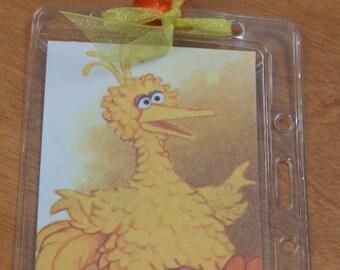 Luggage Bag Tag ID Holder Sesame Street Big Bird