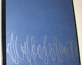 Squiggles ..Magnetic Dry Erase Memo Board / Housewarming Gift / Office Decor / Organization / Desk / Message Bulletin Board / Coworker Gift