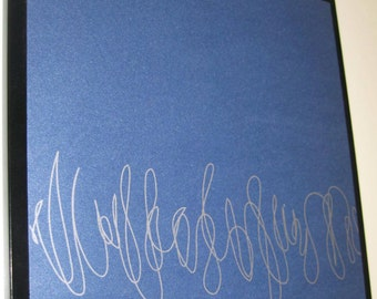Squiggles ..Magnetic Dry Erase Memo Board / Housewarming Gift / Office Decor / Organization / Desk / Message Bulletin Board / Coworker Gift
