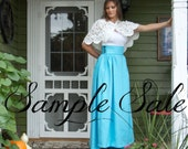 Ready to Ship ~ Long Regency style bustle back skirt with small train and pockets