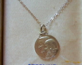 Going Steady Charm Necklace Sterling Silver Original Package Hayward