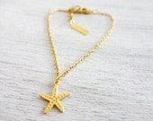 Tiny Starfish Bracelet,  minimalist charm jewelry, girls children kids jewelry