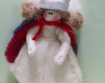 "Nurse Angel 7"" Felted Wool Ornament"