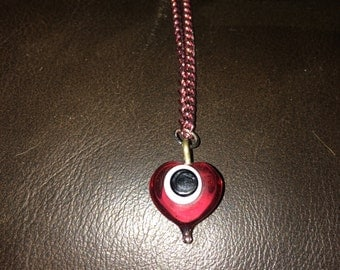 tear drop eye ball necklace