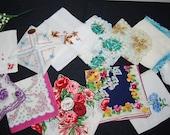 Vintage Handkerchief Bouquet of Joy.......Twelve