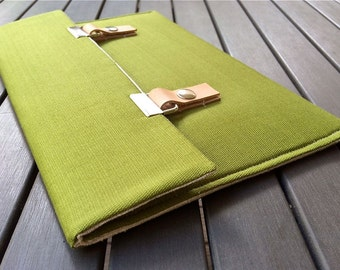 15 MacBook Case / 15 MacBook Pro Case / 13 MacBook Pro Cover / 11 MacBook Sleeve / 13 inch laptop sleeve - Avocado Green