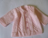 Handknitted Newborn Girl Sweater. Baby Girl Coat. Coming home Sweater. Baby Shower Gift. READY TO SHIP