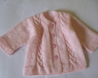 Baby Girl Sweater, Knitted Baby Sweater, Baby Shower Gift, Take Home Sweater, Knitted Girl Sweater, First Baby Sweater, Christmas Gift.