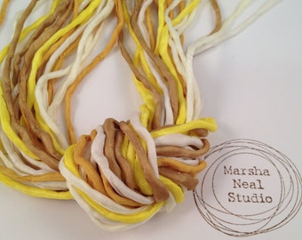 Yellow Gold Ivory Summer Sunshine Sweet Corn Color Palette Craft Supplies Silk 2mm Cord Strands