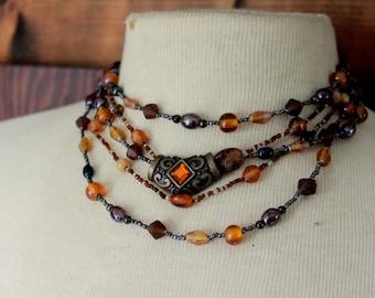 Vintage Necklace CHICOS Multi Strand Statement