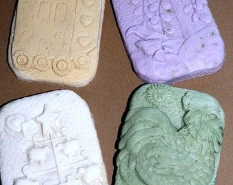 4  Primitive bar soaps