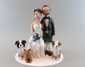Bride & Groom Customized Scottish Wedding Cake Topper