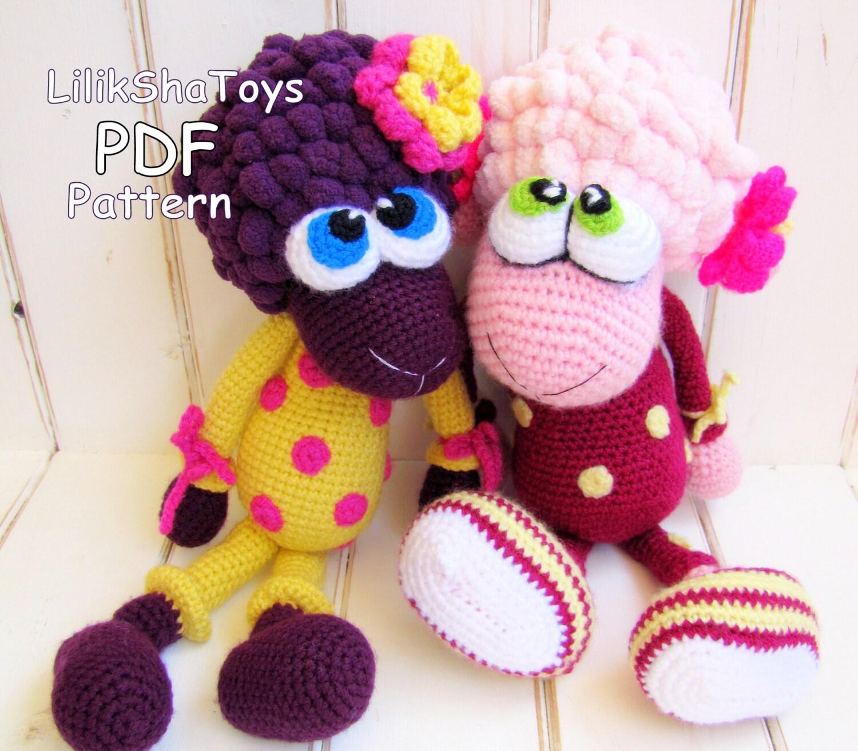 Amigurumi Toys Pattern : Crochet toy Amigurumi Pattern Little Sheep in pajamas