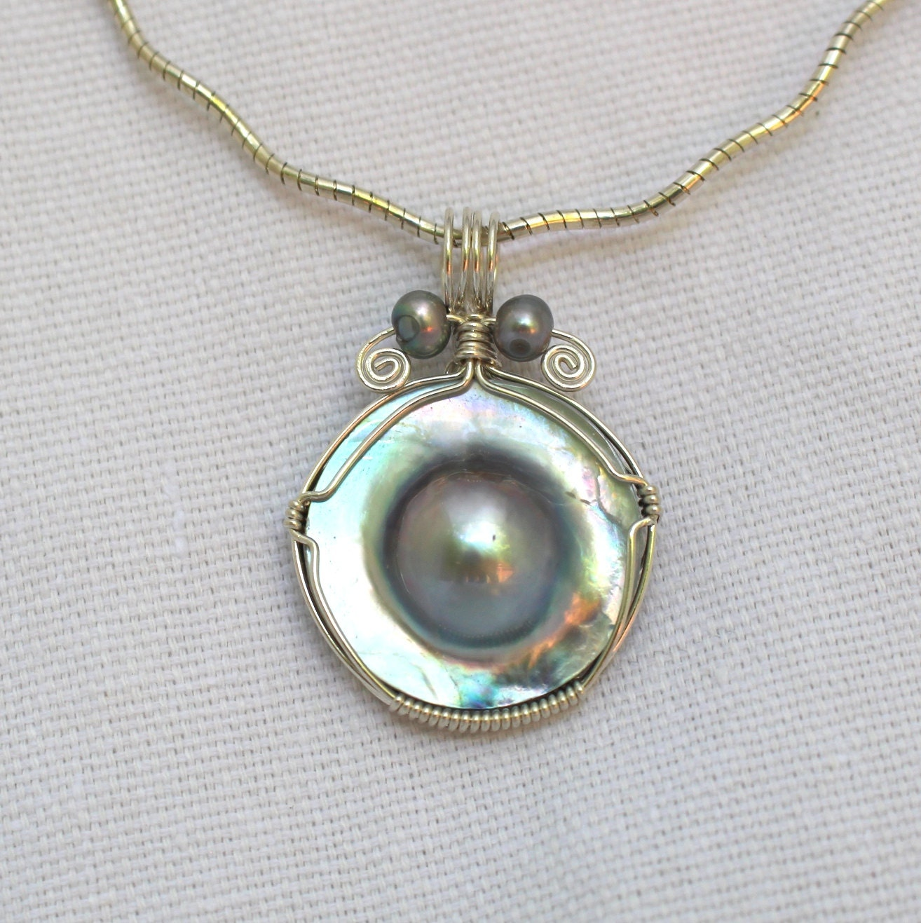 Mabe Pearl Pendant F862 By JewelryByNadine On Etsy