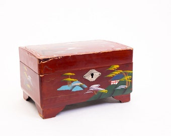 Vintage Japanese Lacquer Jewelry Box