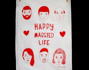 Tea Towel - Happy Married Life