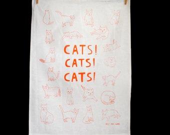 Tea Towel - Cats Cats Cats