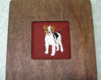 Jack Russell Dog Portrait Embroidered