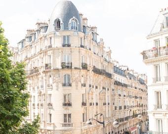 Landscape and Architecture, Paris Photography, Paris daydreams, Paris Balcony, Paris Apartment, travel neutral hues, paris print, paris art