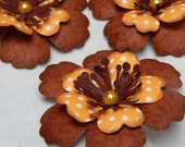 Earthy Autumn Flowers-Set of 3