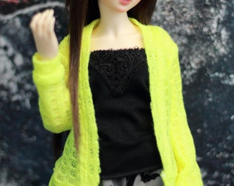 Neon BJD Cardigan Sweater for Minifee 1/4 Size Doll Clothes