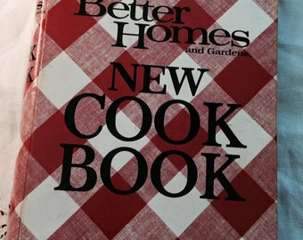 Vintage Better Homes and Gardens New Cook Book Cookbook - Recipies book cook bake - c591