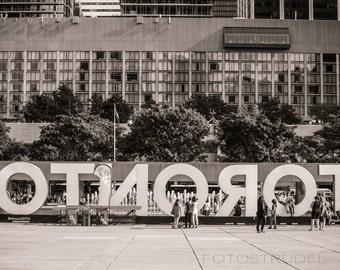 Toronto Fine Art Sepia Photograph. Oh Toronto! OTNOROT Canada 4 / City Hall / Nathan Philips Square / Canada. 8x12