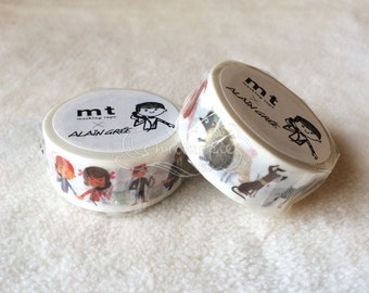 mt x Alain Gree Washi Masking Tape - mt ex 2015 Summer - People / Animals - Artist Series