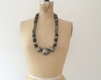 70s beaded necklace / statement necklace / Akumal necklace