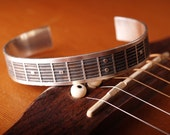MEN'S Fretboard Sterling Etched cuff