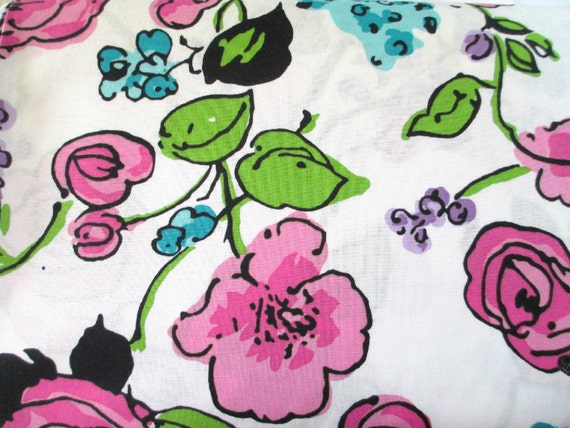 Pink Large Flower Fabric - Maywood - 13 going on 30