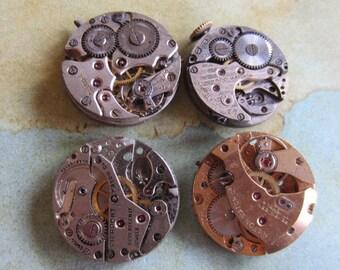 Featured - Steampunk supplies - Watch movements - Vintage Antique Watch movements Steampunk - Scrapbook d84