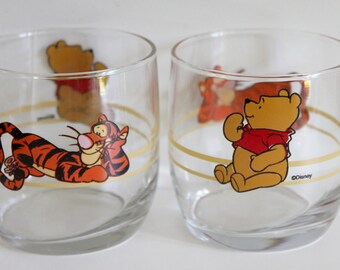 vintage Winnie the pooh/Tiger tumbler glasses,Winnie the pooh/Tiger Anchor tumblers,Tiger tumblers,Tiger tumblers,Winnie the pooh tumblers,