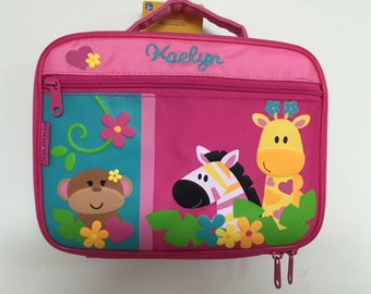 Personalized Stephen Joseph Girl Zoo Lunchbox