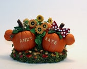 Mickey and Minnie Mouse Inspired Pumpkins Wedding Cake Topper Keepsake