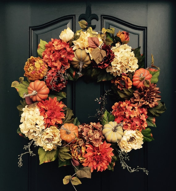 Fall Doorways: FALL Wreath Thanksgiving Wreath Front Door Wreath Holiday