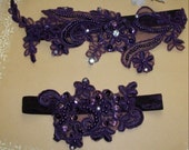 Sale on Plum Garter,Dark Purple Garter,Plum  Wedding,Aubergine Garter,Rhinestone Garter,Aubergine Wedding Garter,Plus size Garter