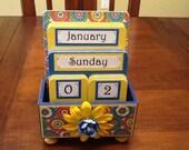 Perpetual Calendar.. Desk Calendar .. In stock ready to ship