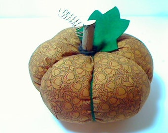 Size 7 | Golden Tan Acorn Fabric Pumpkin | Halloween Decor | Fall Decor |Stuffed Pumpkin | Handmade Gift |Thanksgiving |Table decoration \#4
