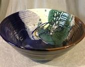 Large Abalone Colored Bowl