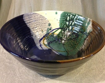 Large Abalone Colored Bowl